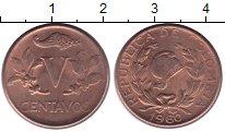 Изображение Монеты Колумбия 5 сентаво 1960 Бронза UNC-