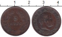 Изображение Монеты Португалия 5 рейс 1896 Бронза XF Карлос I