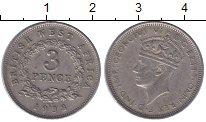 Изображение Монеты Западная Африка 3 пенса 1938 Медно-никель XF Георг VI