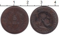Изображение Монеты Португалия 5 рейс 1891 Бронза XF Карлос I