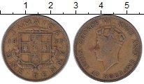 Изображение Монеты Ямайка 1 пенни 1937 Латунь XF-