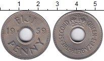 Изображение Монеты Фиджи 1 пенни 1959 Медно-никель XF+