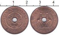 Изображение Монеты Родезия 1/2 пенни 1958 Бронза UNC- Елизавета II