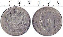 Изображение Монеты Монако 5 франков 1945 Алюминий XF
