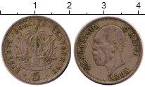 Изображение Монеты Гаити 5 сентим 1905 Медно-никель XF- Президент Пьер Норд