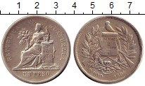 Изображение Монеты Гватемала 1 песо 1894 Серебро XF-