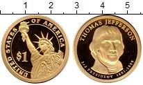 Изображение Монеты США 1 доллар 2007 Латунь Proof 3 - ий  президент  С