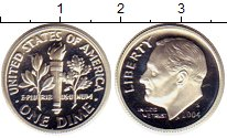 Изображение Монеты США 1 дайм 2004 Серебро Proof