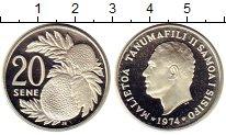 Изображение Монеты Самоа 20 сене 1974 Серебро Proof