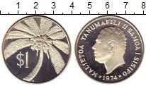 Изображение Монеты Самоа 1 доллар 1974 Серебро Proof