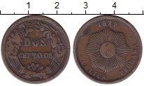 Изображение Монеты Перу 2 сентаво 1878 Медь VF номинал - солнце