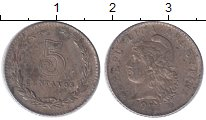Изображение Монеты Аргентина 5 сентаво 1921 Медно-никель XF-