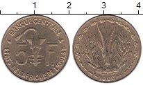 Изображение Монеты Франция Французская Африка 5 франков 1996 Латунь XF+