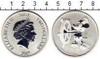 Изображение Монеты Ниуэ 2 доллара 2017 Серебро UNC Елизавета II.  Мышон