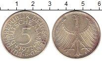 Изображение Монеты ФРГ 5 марок 1972 Серебро XF G. Орел