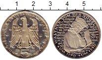 Изображение Монеты ФРГ 5 марок 1980 Медно-никель Proof Вальтер фон  дер  Во