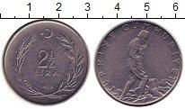 Изображение Монеты Турция 2 1/2 лиры 1965 Железо XF