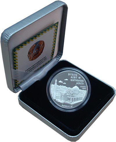 Изображение Подарочные монеты Казахстан 500 тенге 2006 Серебро Proof `Данная монета откры