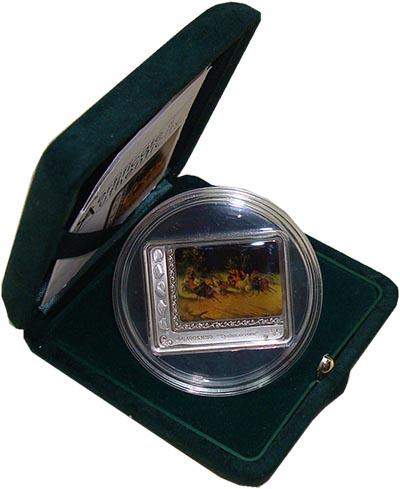Изображение Подарочные наборы Острова Кука 5 долларов 2012 Серебро Proof Федоскинская миниатю