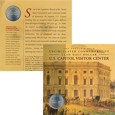 Изображение Подарочные монеты США 1/2 доллара 2001 Медно-никель UNC 200 лет Капитолию СШ