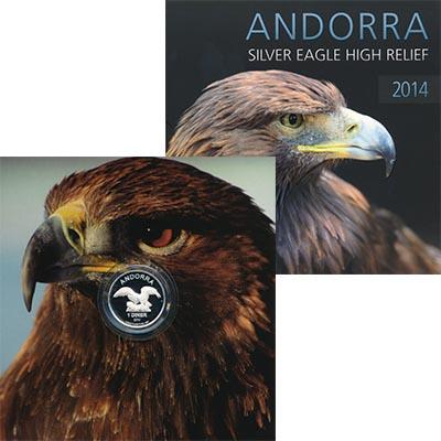 Изображение Подарочные наборы Андорра 1 динер 2014 Серебро Proof Монета с изображение