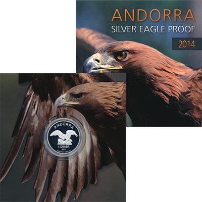 Изображение Подарочные наборы Андорра 1 динер 2014 Серебро Proof