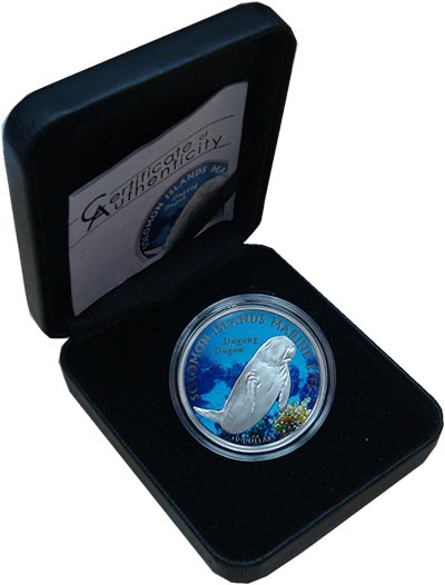 Изображение Подарочные монеты Соломоновы острова 10 долларов 2011 Серебро Proof `Монета из серии ``М