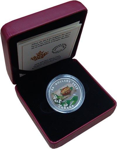 Изображение Подарочные наборы Канада 20 долларов 2015 Серебро Proof Елизавета II.  Череп