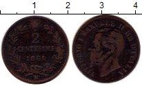 Изображение Монеты Италия 2 сентесимо 1861 Медь XF