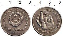 Изображение Монеты Вьетнам 10 донг 1987 Медно-никель UNC Сохранение  дикой  п