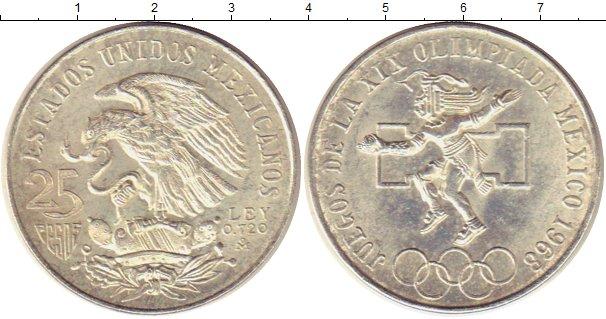 Мексика 25 песо 1968 олимпиада продам водку ссср