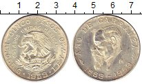 Изображение Монеты Мексика 5 песо 1959 Серебро XF