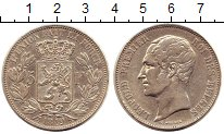 Изображение Монеты Бельгия 5 франков 1849 Серебро XF Леопольд I