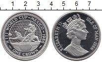 Изображение Монеты Остров Мэн 1 крона 1986 Серебро Proof