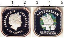 Изображение Монеты Австралия 50 центов 2005 Серебро Proof Елизавета II.  Кукаб