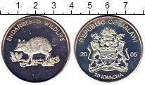 Изображение Монеты Малави 10 квач 2005 Посеребрение UNC