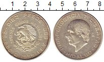 Изображение Монеты Мексика 10 песо 1955 Серебро XF Идальго.
