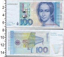 Изображение Боны ФРГ 100 марок 1996  XF Клара Шуманн. Здание