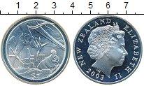 Изображение Монеты Новая Зеландия 1 доллар 2003 Серебро Proof