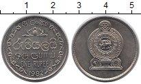 Изображение Монеты Шри-Ланка 1 рупия 1982 Медно-никель XF
