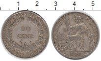 Изображение Монеты Индокитай 20 центов 1930 Серебро XF