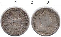 Изображение Монеты Уганда 25 центов 1906 Серебро VF