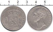 Изображение Монеты Нидерланды 1 гульден 1848 Серебро XF