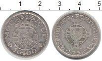 Изображение Монеты Мозамбик 10 эскудо 1952 Серебро VF Колония  Португалии