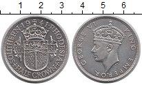 Изображение Монеты Родезия 1/2 кроны 1941 Серебро UNC Георг VI