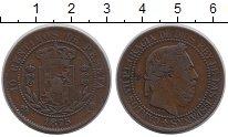 Изображение Монеты Испания 10 сентим 1875 Медь XF