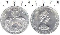 Изображение Монеты Багамские острова 2 доллара 1971 Серебро UNC