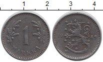 Изображение Монеты Финляндия 1 марка 1949 Железо XF Герб
