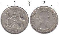Изображение Монеты Австралия 6 пенсов 1958 Серебро XF-