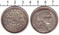 Изображение Монеты Латвия 5 лат 1929 Серебро XF Герб